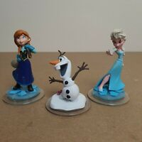 Disney Infinity Frozen Figure Bundle - Elsa, Anna And Olaf
