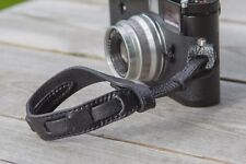 Leather Camera Wrist Strap Lanyard Holder - Black