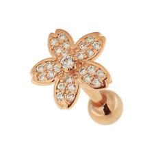 Micro Jeweled Flower Cartilage Helix Tragus Piercing Ear Stud body Jewelry