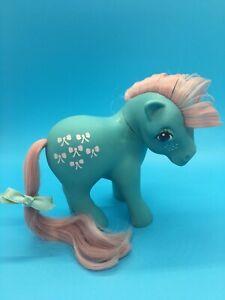 Vintage 1983 G1 My Little Pony Bowtie Blue Pink Hair Bow Ties Hasbro L@@K