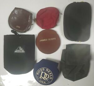 Lot Of 7 VINTAGE Bait Cast Reel Covers