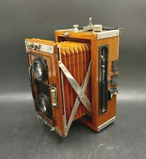 RARE Teak Wood Contessa-Nettel Leather Bellows Tropical Stereo F:4.5 9cm Camera