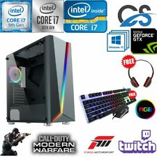 Rápido Intel i7 10700F Juegos PC Computadora 2TB + 480GB 16GB Ram Gtx 1660 Windows 10