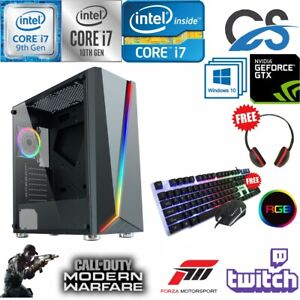 FAST Intel i7 10700F Gaming PC Computer 2TB + 480GB 16GB RAM GTX 1660 Windows 10