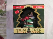 COCA COLA CHRISTMAS ORNAMENT A TIME TO SHARE SANTA IN CHAIR~NEW WITH BOX