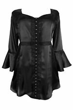 Dare to Wear Gothic Victorian ENCHANTED Black Plus Size Top Size 3X