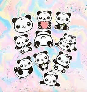 30 Pack Paper Kawaii Panda Bear Stickers