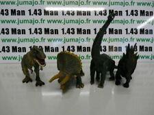 lot 4 figurine PVC DINOSAURES 14/18 cm Tyrannosaure Diplodocus Tricératops Stégo