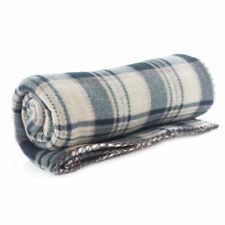Machine Washable Checked Modern Bed Blankets