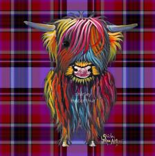 HIGHLAND COW PRINTS SCOTTISH from Painting TaRTaN BRaVeHeaRT P SHiRLeY MacARTHuR