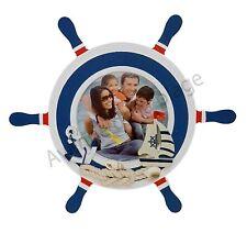 Cadre photo barre à roue / gouvernail à poser décor marin, déco thème mer neuf