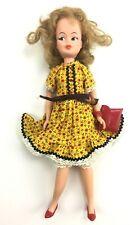Vintage 1960s Horsman Patty Duke Doll & Unique Calico Lassie Dress