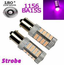 Strobe Purple Rear Turn Signal 1156 BA15S P21W 7506 3497 92 LED Bulb A1 Euro X