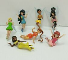 Disney Lot of 7 Fairies Figures Tinkerbell Peter Pan & Friends PVC Cake Toppers