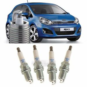 OEM Genuine Parts NGK R Spark Plug Set 4Pcs for KIA 12-16 Rio Sedan Hatch Back