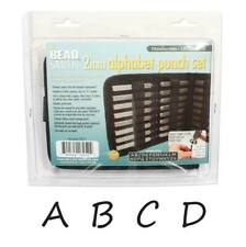 27 Piece Uppercase Handwritten Alphabet Letters A-Z Punch Set For Metal 2mm