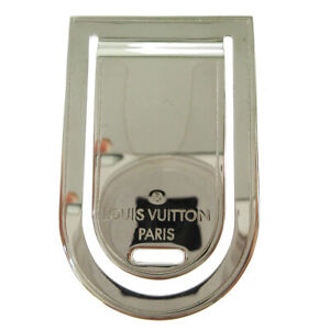 LOUIS VUITTON Pince a Billets Porte Adresse Money Clip Silver M65067 AK38423j