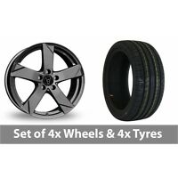 "4 x 15"" Wolfrace Kodiak Graphite Alloy Wheel Rims and Tyres -  195/65/15"