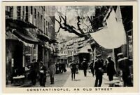 Old Constantinople Istanbul Turkey Street 1930s Trade Ad Card
