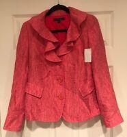 Lafayette 148 New York Pink Tweed Jacket, Size 6