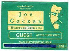 JOE COCKER invitation after show paris 1988