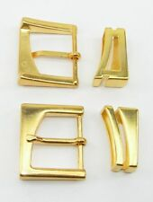Gürtelschnalle Schließe Schnalle  3 cm gold NEUWARE  rostfrei 0301