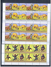 GUINEA ANIMALS 1977 IN  BLOCK OF 4   MNH. COTE  260    EURO