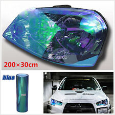 1pc 200 x 30cm Chameleon Colorful Blue Car Headlight Tail Fog Light Vinyl Tint