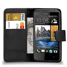 BLACK WALLET Leather Case Phone Cover for HTC ONE MINI 2 Uk Seller free dispatch