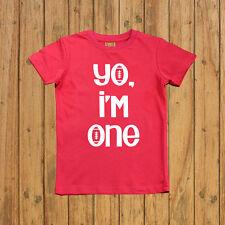 Boys first birthday shirt, one year old birthday shirt, Yo I'm one birthday