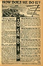 1941 small Print Ad of Instructions In Spirit and Mind Reading You Can Do It