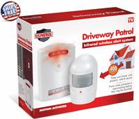 Driveway Alarm Wireless Motion Infrared Sensor Garage Alert Secure System Patrol