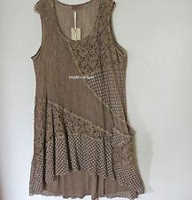 >>zedd..plus>>cooles Kleid Tunika Zweiteiler Materialmix macchiato 48-50 (3)