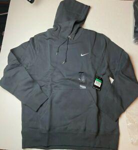 Nike Men's Classic Fleece Hoodie Pullover Sweatshirt Size XL Ant Gray 404538 NWT