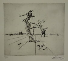 Limited edition etching, Surrealism Giraffe, signed Salvador Dali w DOCS