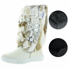 Pajar Women's Juliana Suede and Rabbit Fur Cold Weather Winter Boots