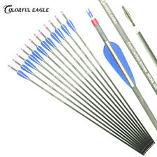"""Archery 28""""/30""""/31"""" ; hunting Carbon Arrows Spine 300/400 for compound/Recurve bow"""