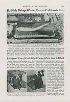 1939 Magazine Article San Francisco World's Fair Ski Jump Treasure Island Skiing