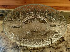 NEW GIBSON HOME JEWELITE OVAL GLASS SERVING PLATTER/TRAY IN THE ORIGINAL BOX