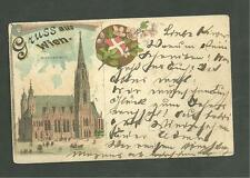1897 Gruss Aus Wien Postcard Stephanskirche Austria Greetings from Vienna