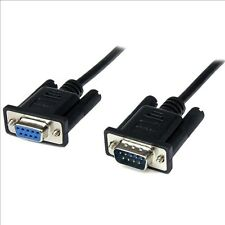 StarTech.com Black DB9 RS232 Serial Null Modem Cable F/M (1M)