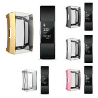 Ultra-thin TPU Smart Watch Screen Protector Case Cover for Fitbit Charge 2 SMART