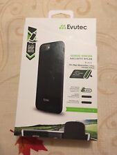 Evutec Ballistic Nylon Aergo Series BLACK Case for iPhone 8 / 7 / 6s / 6 Plus +