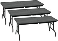 Set of 3 Black Breakable Tables for WWE Wrestling Action Figures