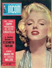 MARILYN MONROE Cover Magazine 1960 Italy Vintage Weekly Issue Rare Sexy Incom