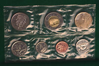 2005 Canada Prooflike PL regular (brilliant uncirculated set) P mark on 5 coins