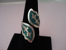 8 1/2 to 9 Eagle 4 Mark Vintage Mexico Guad Fp Sterling Silver Ring Size