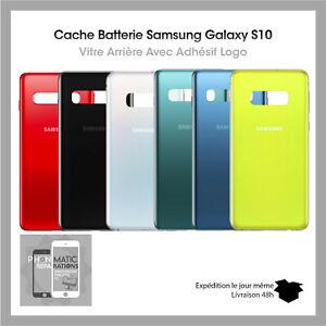 Vitre arrière Original Samsung Galaxy S10 (G973F)+Adhesif Qualite Original Logo