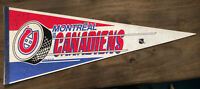 HOF Patrick Roy Autographed MONTREAL CANADIENS NHL HOCKEY PENNANT - Early 90s