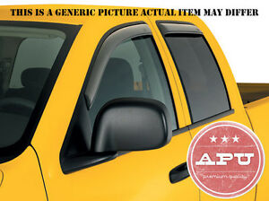 APU Rain Guards Tape On Smoke fit 2006-2009 Hummer H3